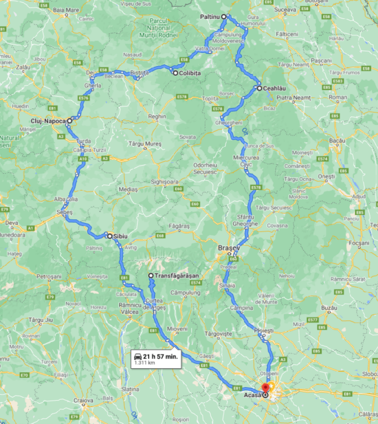map itinerary